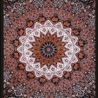 Grey - India Star - 3D - Tapestry