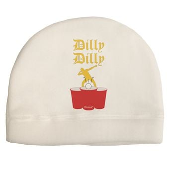 Dilly Dilly Funny Beer Adult Fleece Beanie Cap Hat by TooLoud