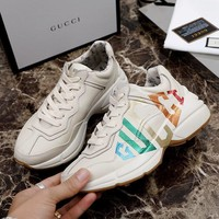 Gucci logo leather sneaker