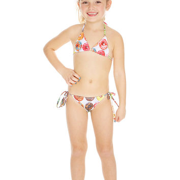 Kids Donuts Tie Side Bikini
