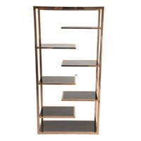 Guido Display Cabinet Black Glass, Rose Gold