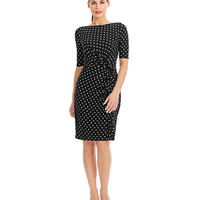 Women's Clothing | $99 Essential Dresses | Printed Jersey Ruffle Dress | Lord and Taylor