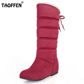 Size 32-45 New Women Boots Russia Keep Warm Outdoor Riding Boots Women's Fur Boots Winter Waterproof Snow Boots Shoes