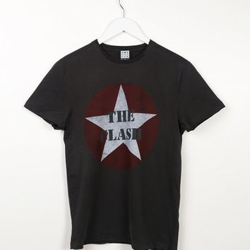 Charcoal The Clash Star Logo T-Shirt from Amplified