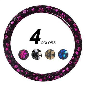 Steering Wheel Cover With Flowers Car Accessories For Girls