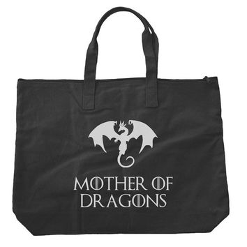 Mother of Dragons Khaleesi Tote bags. Black or Natural color