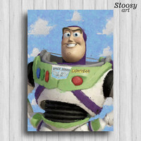 buzz lightyear toy story poster disney painting toy story art