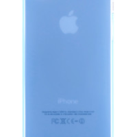 Blue Frosted Transparent Gel Case for iPhone 5 & 5s