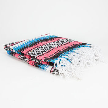 Bright Stripe Serapa Blanket Pink/Blue One Size For Women 24546834601