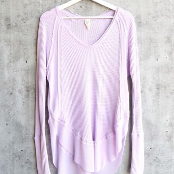 Free People - Catalina long-sleeve thermal top - Lilac