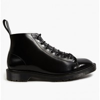 Dr Martens Men's oki-ni Exclusive Black Boanil Brush Leather Les Boots
