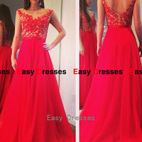 Red dress backless dress Prom dress Bridesmaid dress Fashion dress Party Evening Dresses 2014