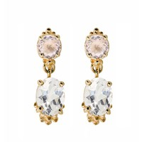 Morganite Topaz Drop Earrings