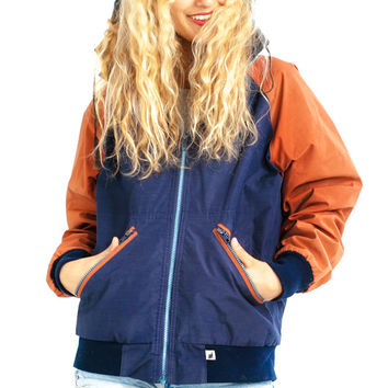 Vintage 90's Colorblock Hooded Jacket - One Size Fits Many