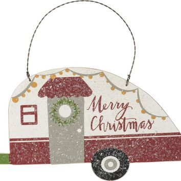 Merry Christmas Camper Hanging Decor