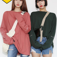 Extended Sleeve French Embroidery T-Shirt