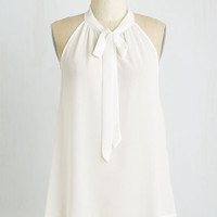 Americana Mid-length Your Best Effortlessness Top in Ivory by ModCloth