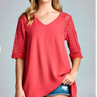 Strawberry Serendipity Blouse