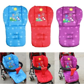 Baby Stroller Cushion Giraffe Children Cart Seat Cushion Pushchair Cotton Thick Car Seat High Chair For Baby Stroller Accessorie