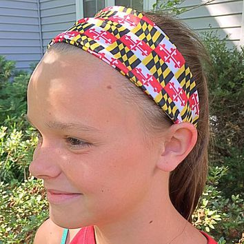 Maryland Flag Athletic Running Headband