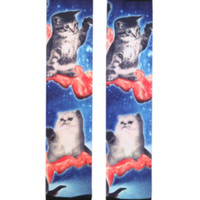 RUDE Bacon Cats Men's Crew Socks