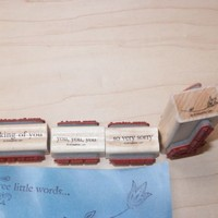 Stampin Up 2008 Three Little Words Retired Wood Block Stamp Set of 8
