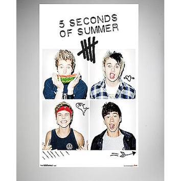 5 Seconds of Summer Squares Poster - Spencer's
