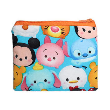 Tsum Tsum Coin Purse | Inspired by Disney Coin Bag | Change Wallet