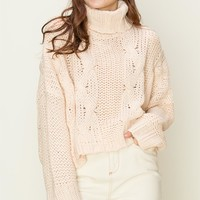 More To Come Cropped Sweater - Beige