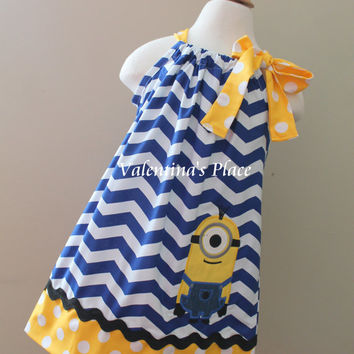 Super Cute Despicable me Minion one Eye inspired pillowcase dress