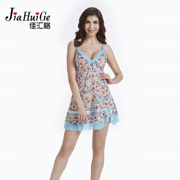 JiaHuiGe Summer Ladies Night Sleepwear Women Sexy Lingerie Nightdress Sexy Dress Exotic Dresses Night Robe Nightgown Sleep Dress