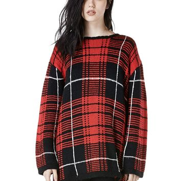 UNIF | JUMBO PLAID SWEATER