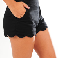 Walk This Wave Shorts: Black