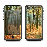 The Subtle Gold Autumn Forrest Apple iPhone 6 LifeProof Fre Case Skin Set