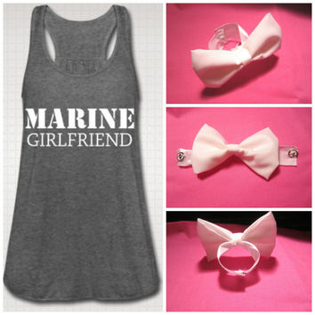 MARINE Girlfriend - Tank Top with DETACHABLE Bow
