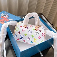 Louis Vuitton LV Women's Color Printed Lettering Shopping Tote