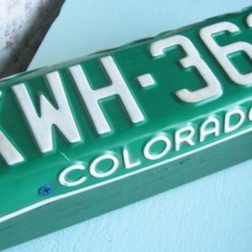 Colorado License Plate Door Stop / Conversation Piece
