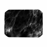 """Chelsea Victoria """"Black Marble"""" Modern White Place Mat"""
