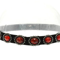 Faceted Glass Bead Headband Hair Accessory