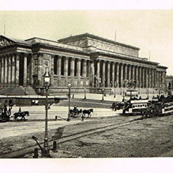 "Cook's England Picturesque - ""ST. GEORGE'S HALL, LIVERPOOL"" - Photogravure - 1899"