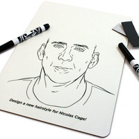Nicolas Cage Hairstyle Whiteboard