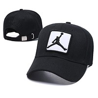 Jordan Fashion Boys Girls Embroidery Summer Sports Sunhat Baseball Cap Hat Black