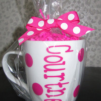 Best friends, bridesmaids, personalized coffee / tea cup!