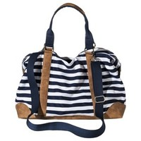 Merona® Stripe Weekender Duffle Handbag with Removable Shoulder Strap - Navy