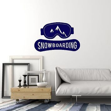 Vinyl Wall Decal Snowboard Mountains Snowboarding Board Winter Interior Stickers Mural (ig5854)