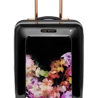 Ted Baker London 'Small Cascade Floral' Hard Shell Suitcase - Black (22 Inch)