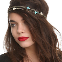 LOVEsick Two Chain Cross Headband | Hot Topic