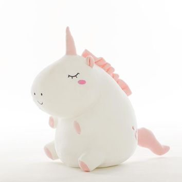Cute Plush Unicorn Stuffed Animals Doll 25-55cm White Gray Cushion Baby Appease Toys Adult Kids Gift Photo Props Home Decor