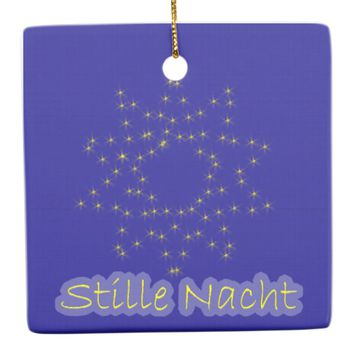 Stille Nacht Ceramic Ornament