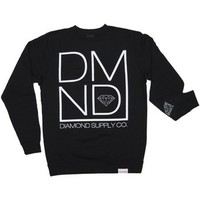 Diamond Supply DMND Crewneck Sweatshirt in Black (S2DMNDC-BLK)